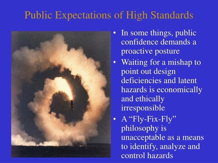 Public Expectations of High Standards