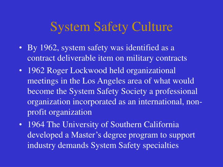 System Safety Culture