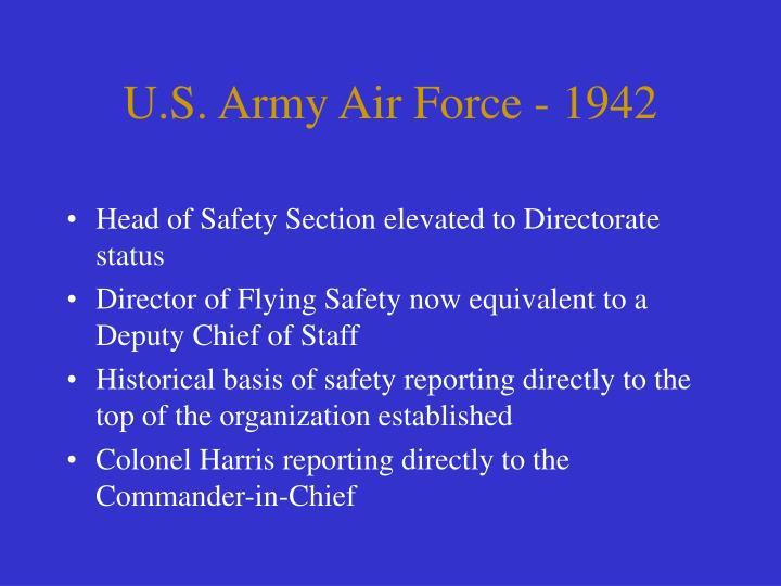 U.S. Army Air Force - 1942