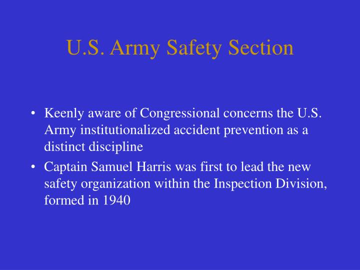 U.S. Army Safety Section