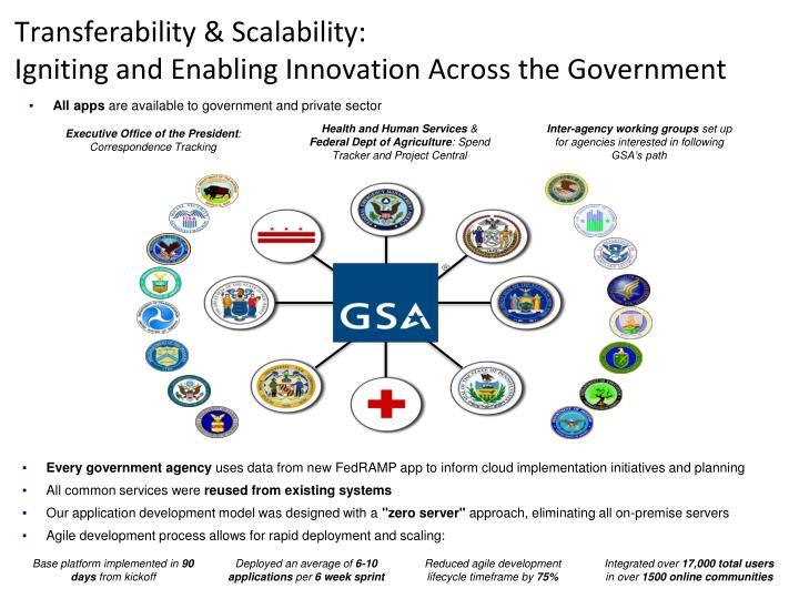 Transferability & Scalability: