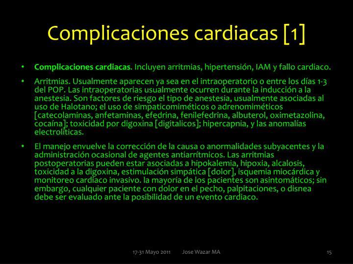 Complicaciones cardiacas [1]