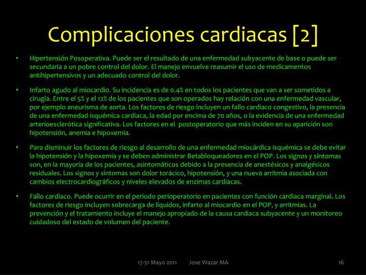 Complicaciones cardiacas [2]