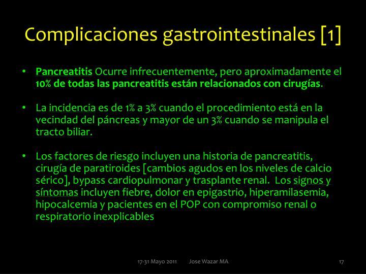 Complicaciones gastrointestinales [1]