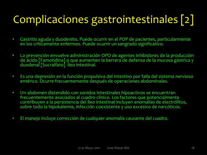 Complicaciones gastrointestinales [2]