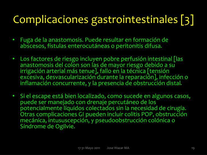 Complicaciones gastrointestinales [3]