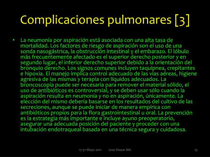 Complicaciones pulmonares [3]