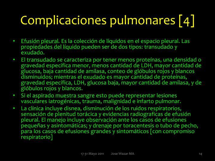 Complicaciones pulmonares [4]