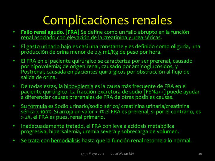 Complicaciones renales