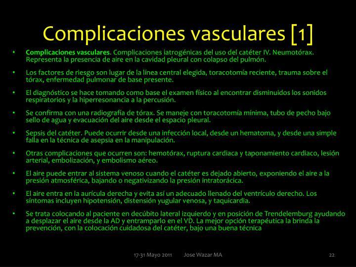 Complicaciones vasculares [1]