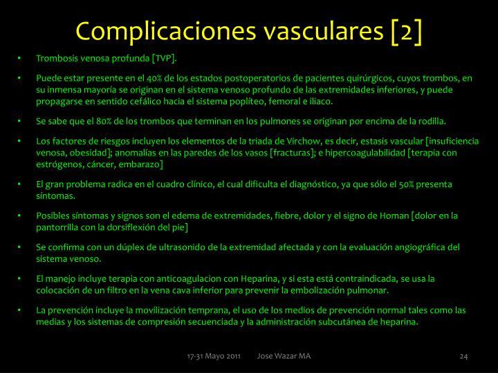 Complicaciones vasculares [2]