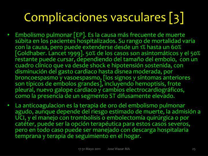 Complicaciones vasculares [3]