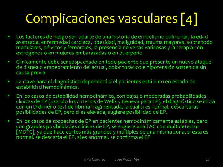 Complicaciones vasculares [4]