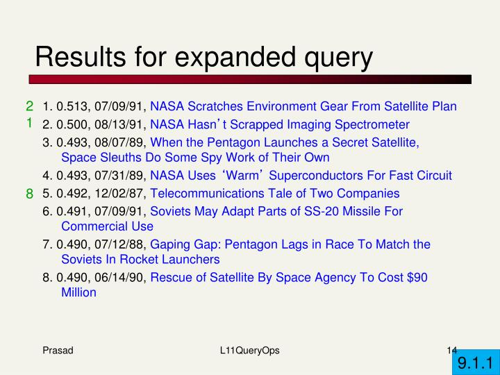 Results for expanded query