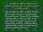 explain the dilemma faced by the frankfurt assembly over the identification of a german union