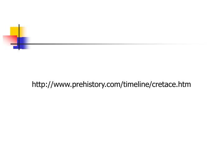 http://www.prehistory.com/timeline/cretace.htm