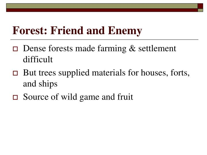 Forest: Friend and Enemy