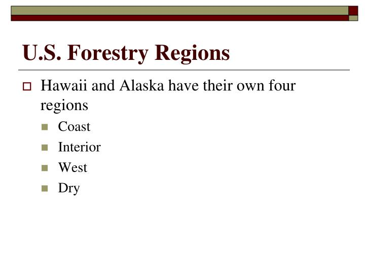 U.S. Forestry Regions