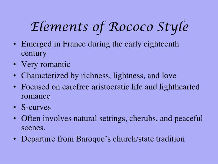 Elements of Rococo Style