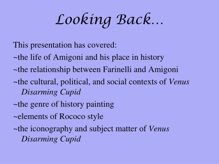 Looking Back…