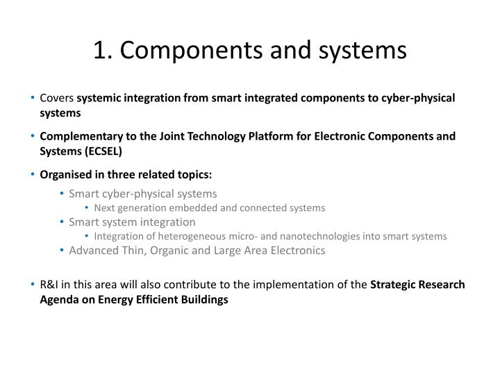 1. Components and