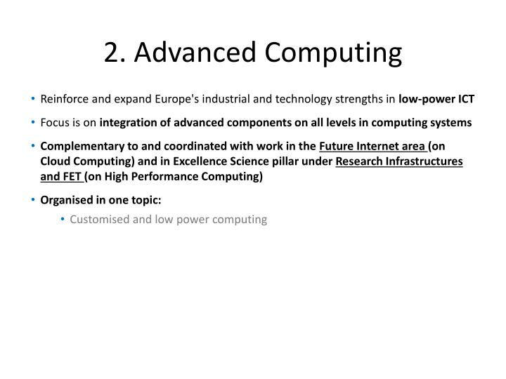 2. Advanced Computing