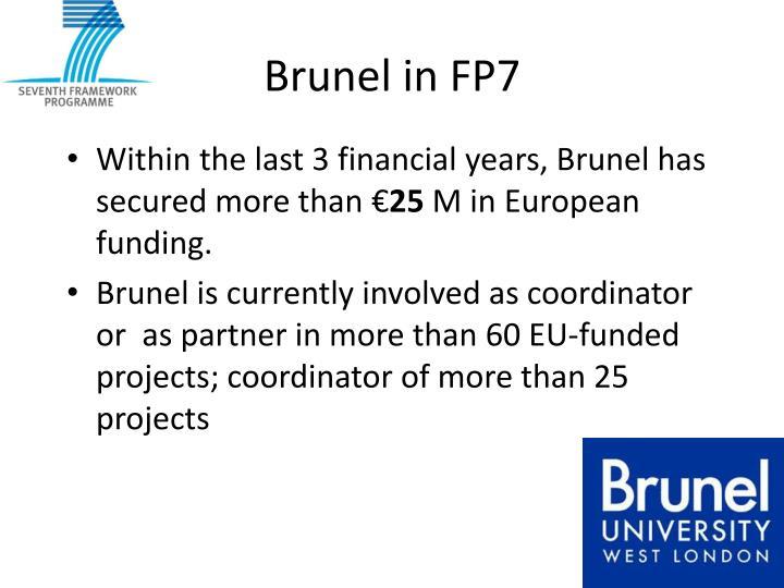 Brunel in FP7