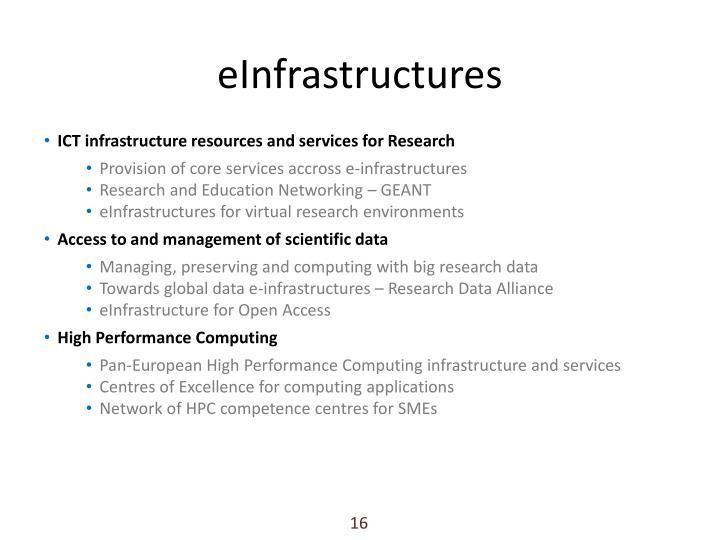 eInfrastructures