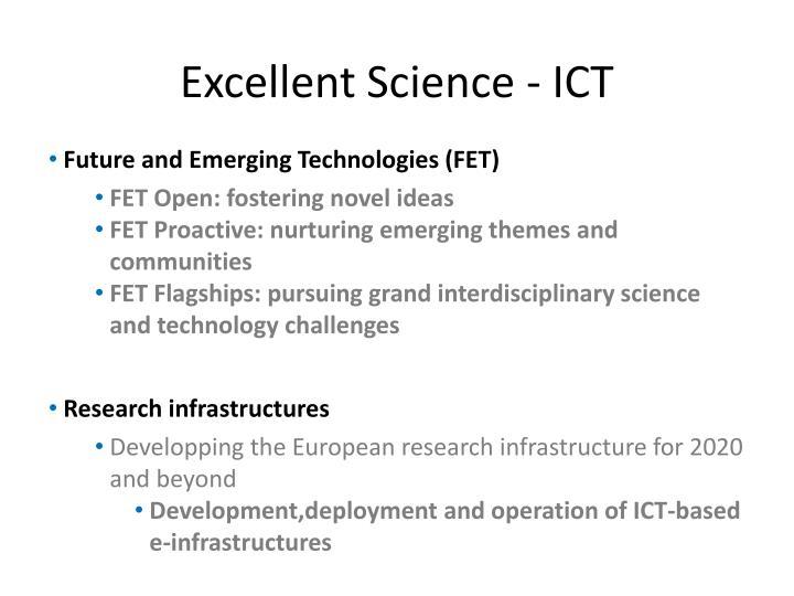 Excellent Science - ICT