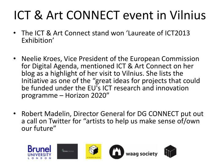 ICT & Art CONNECT event in Vilnius
