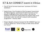 ict art connect event in vilnius