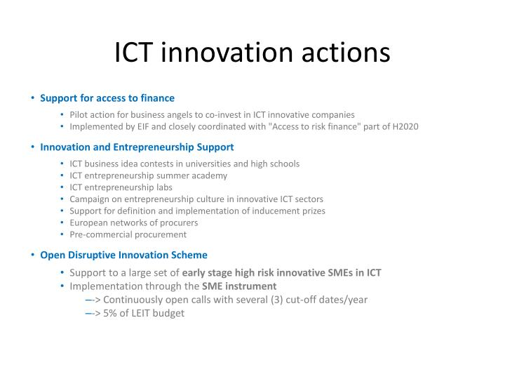 ICT innovation actions