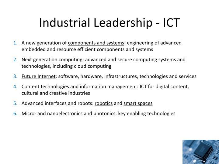 Industrial Leadership - ICT