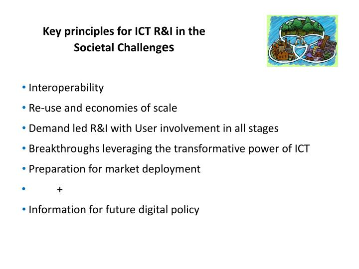 Key principles for ICT R&I in the Societal Challeng
