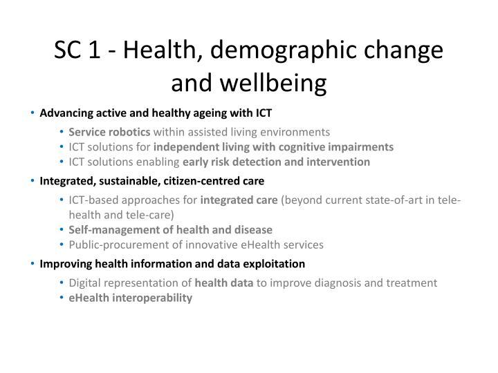 SC 1 - Health, demographic change