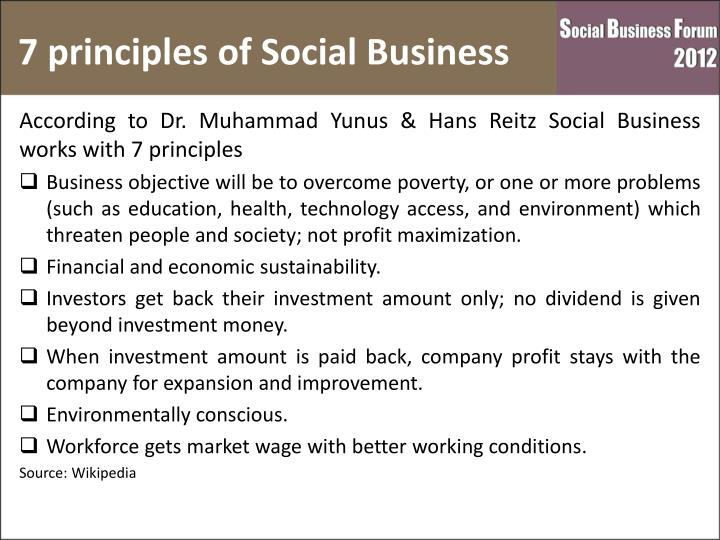7 principles of Social Business