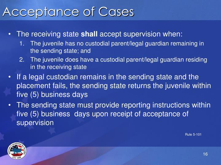 Acceptance of Cases