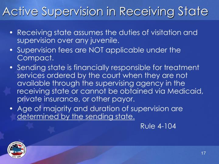 Active Supervision in Receiving