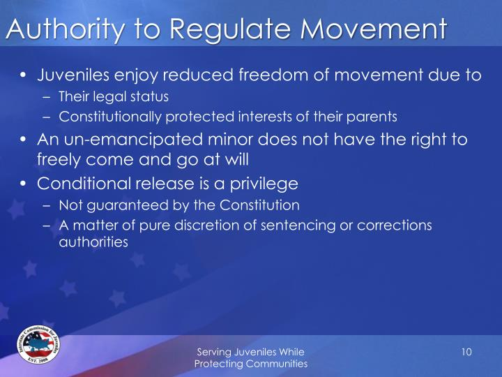 Authority to Regulate Movement