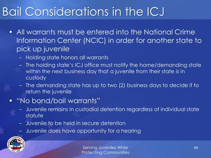 Bail Considerations in the ICJ