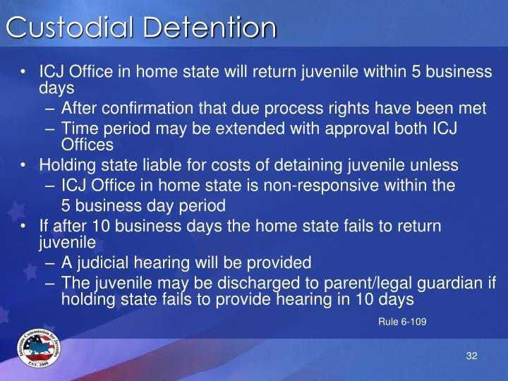 Custodial Detention
