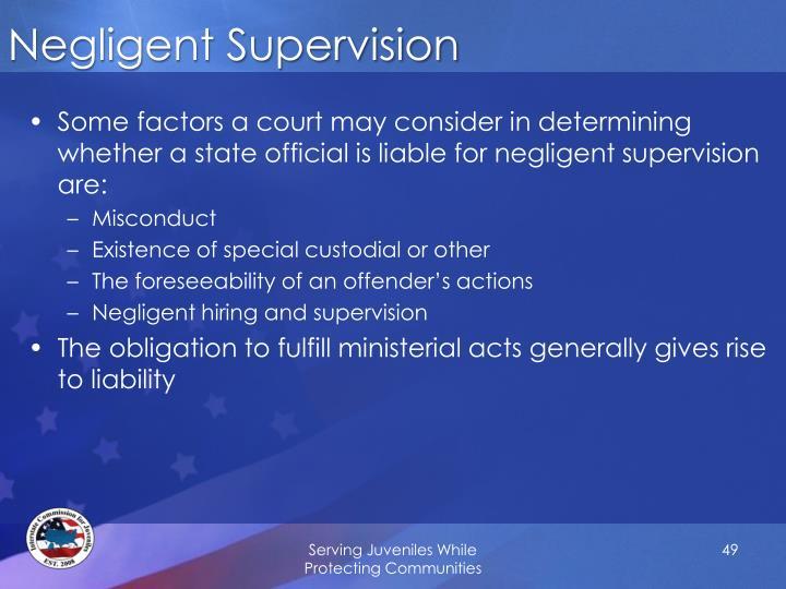 Negligent Supervision