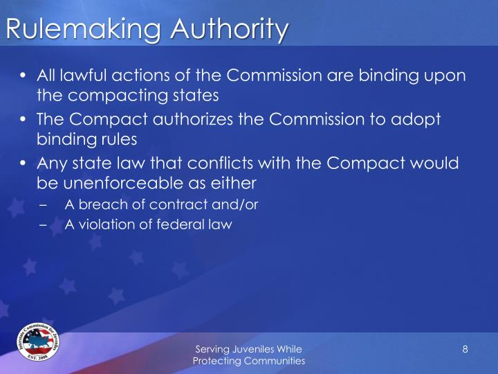 Rulemaking Authority