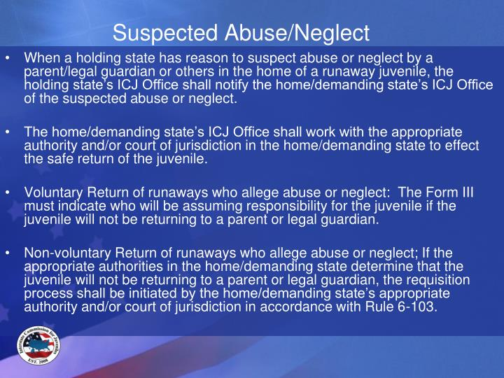 Suspected Abuse/Neglect