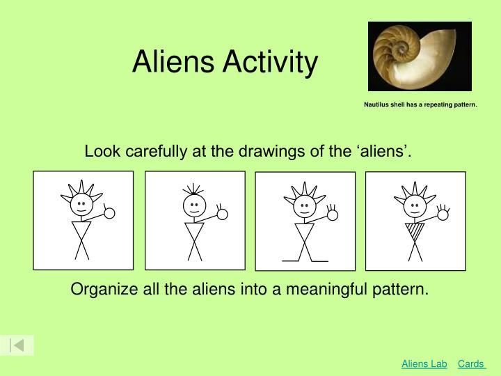 Aliens Activity
