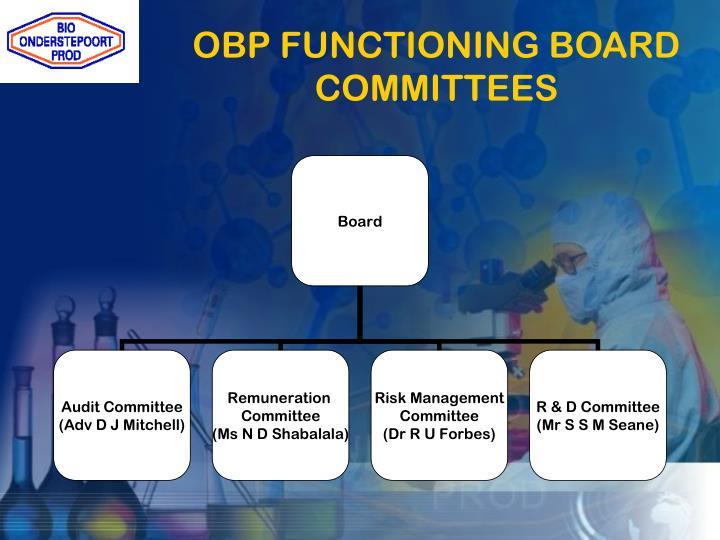 OBP FUNCTIONING BOARD COMMITTEES