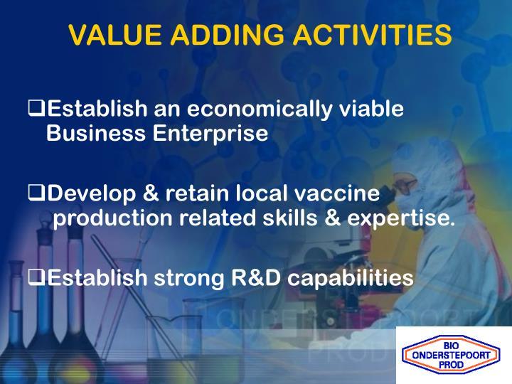 VALUE ADDING ACTIVITIES