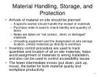 material handling storage and protection