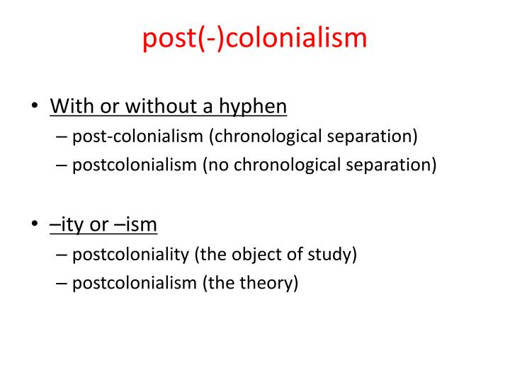 post(-)colonialism