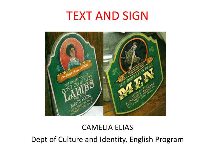 TEXT AND SIGN